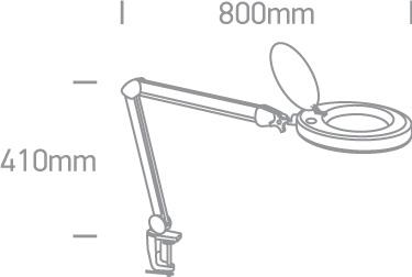 WHITE LED 8W DL 230V MAGNIFYING LENS