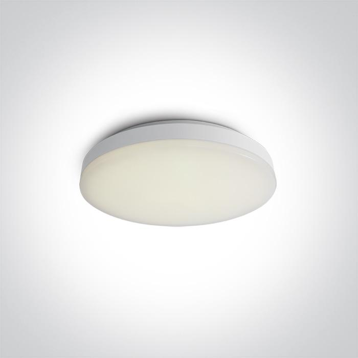 ONE Light White Led Ceiling Mounted 20w Warm White Ip20 230v 5291889035664 62022A/W/W
