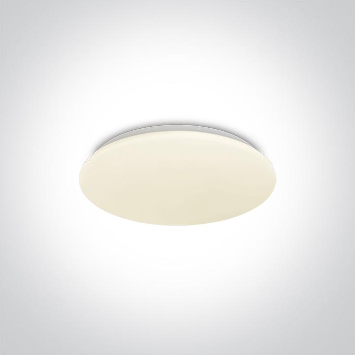 ONE Light White Led Ceiling Mounted 15w Warm White Ip20 230v 5291889063759 62026A/W