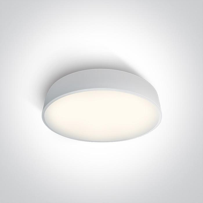 ONE Light White Ceiling Mounted Led 25w Cool White Ip20 230v 5291889046752 62125D/W/C