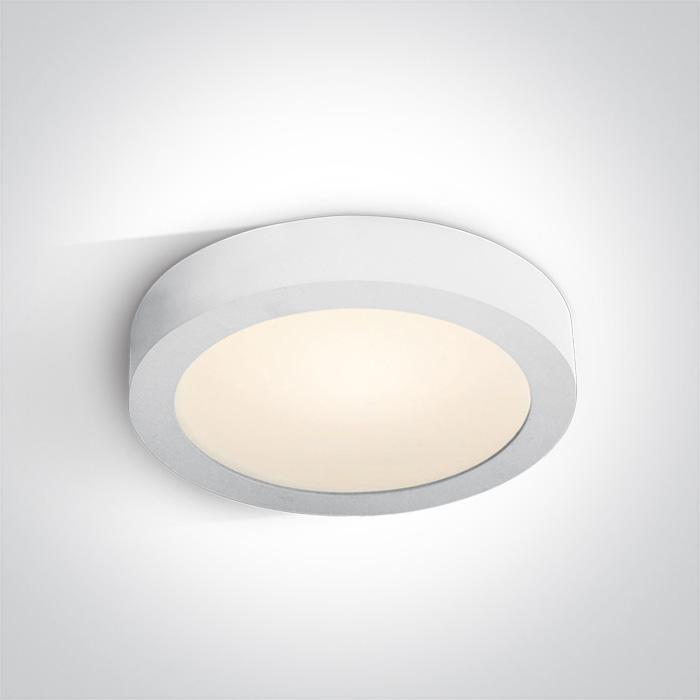 ONE Light White Ceiling Mounted Led 30w Warm White Ip40 100-240v 5291889034414 62130F/W/W