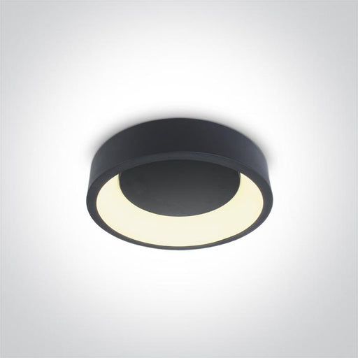 ONE Light Anthracite Ceiling Mounted Led 20w Warm White Ip20 230v 5291889056812 62130N/AN/W
