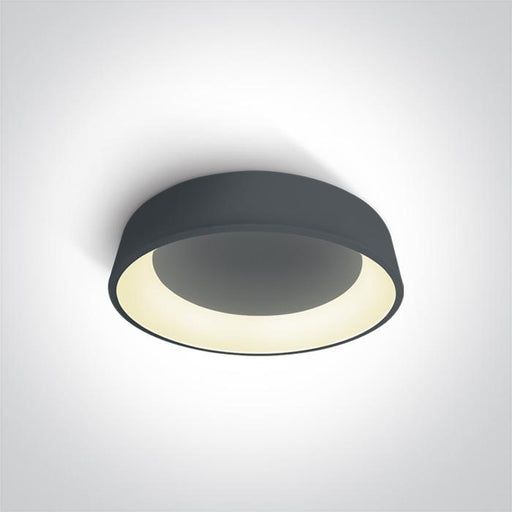 ONE Light Anthracite Ceiling Mounted Led 32w Warm White Ip20 230v 5291889046806 62132N/AN/W