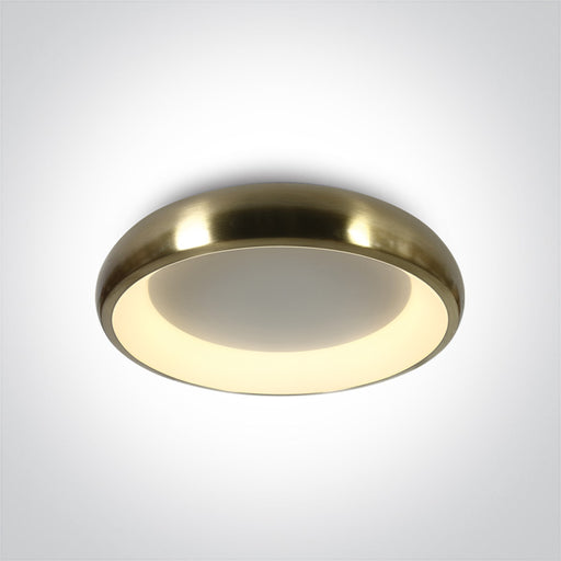ONE Light Brushed Brass Ceiling Mounted Led 32w Warm White Ip20 230v 5291889063414 62134N/BBS/W