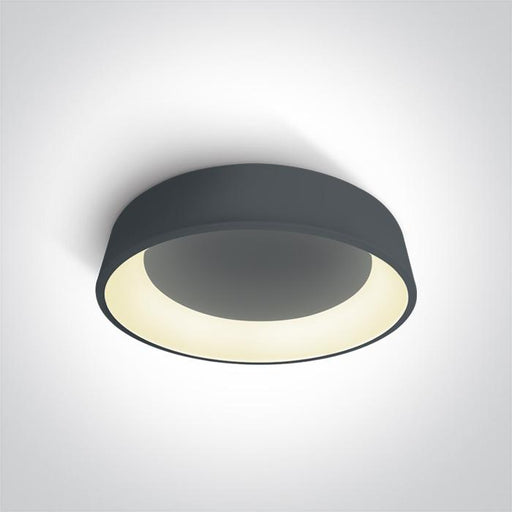 ONE Light Anthracite Ceiling Mounted Led 42w Warm White Ip20 230v 5291889046820 62142N/AN/W