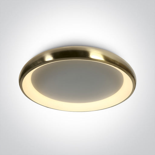 ONE Light Brushed Brass Ceiling Mounted Led 50w Warm White Ip20 230v 5291889063360 62144N/BBS/W