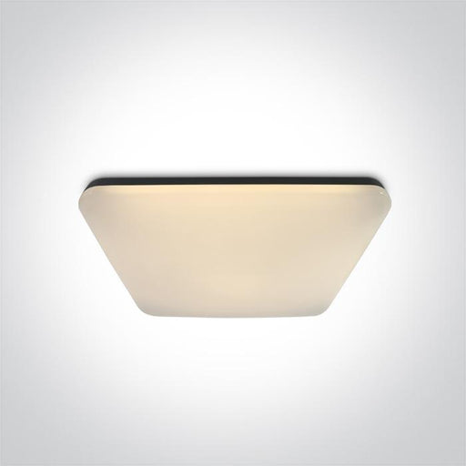 ONE Light Black Square Ceiling Mounted Led 50w Warm White Ip20 230v 5291889064657 62146A/B/W