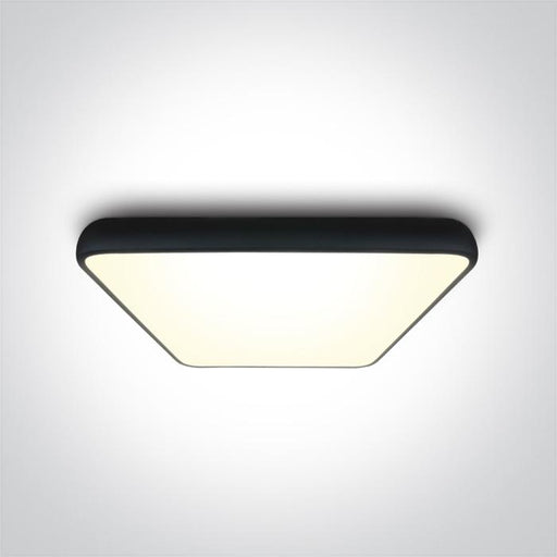 ONE Light Black Square Ceiling Mounted Led 62w Warm White Ip20 230v 5291889056942 62160A/B/W
