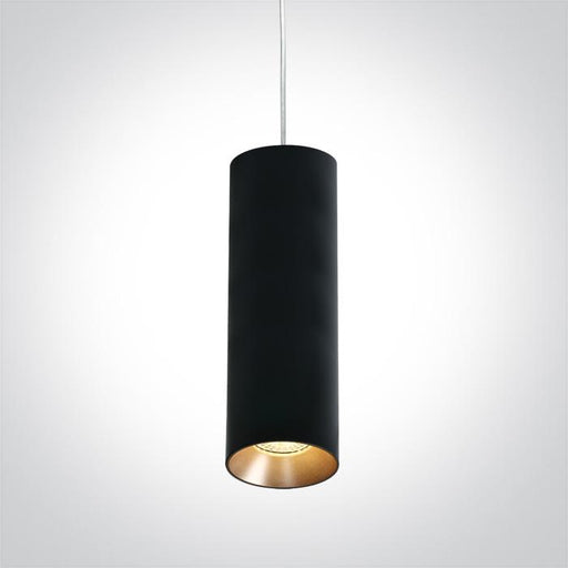 ONE Light Black Pendant Gu10 10w Dark Light 5291889054733 63105M/B