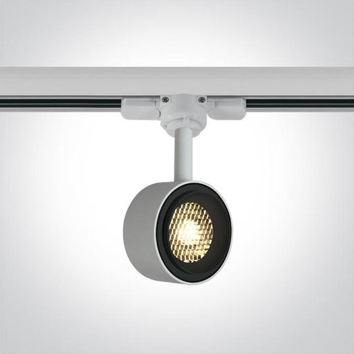 ONE Light White Cob Led 8w Warm White Track Spot 36deg 230v Dimmable 5291889060901 65644T/W/W