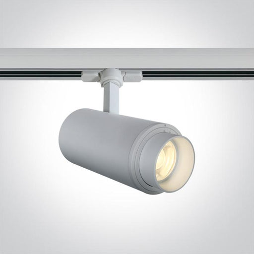 ONE Light White Cob Led 30w Cool White Track Spot 20-60deg Adjustable Beam 230v 5291889061106 65650T/W/C