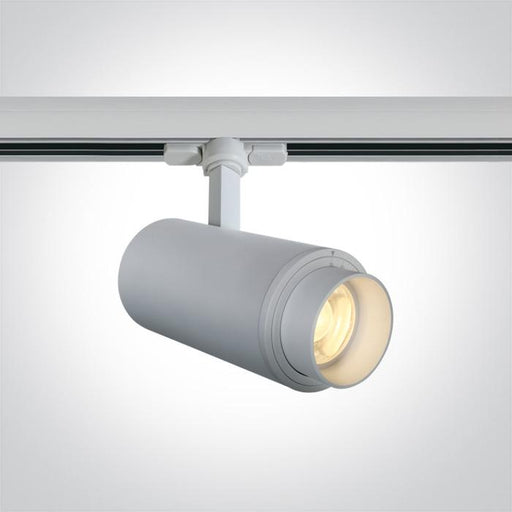 ONE Light White Cob Led 30w Warm White Track Spot 20-60deg Adjustable Beam 230v 5291889061090 65650T/W/W
