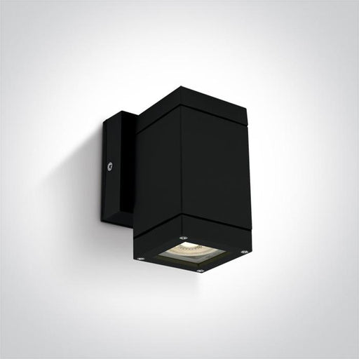 ONE Light Black Wall Gu10 35w Ip54 5291889057512 67130F/B