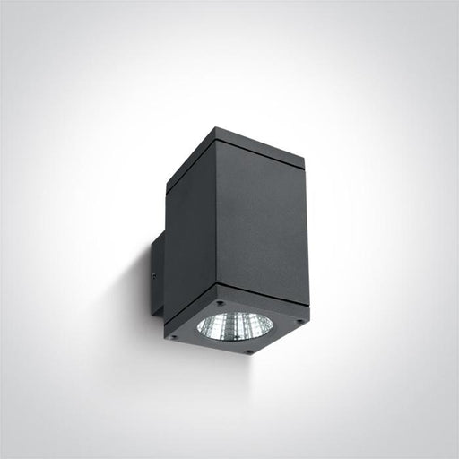 ONE Light Anthracite Cob Led 2x6w Warm White Ip54 230v 5291889042648 67138A/AN/W