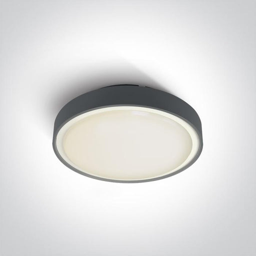 ONE Light Anthracite Led Ceiling Mounted 24w Warm White Ip65 230v 5291889043331 67280AN/AN/W