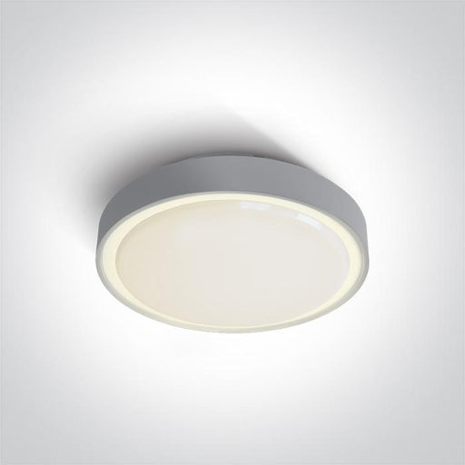 ONE Light Grey Led Ceiling Mounted 24w Warm White Ip65 230v 5291889043324 67280AN/G/W