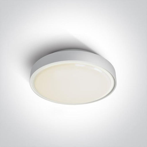 ONE Light White Led Ceiling Mounted 24w Warm White Ip65 230v 5291889043300 67280AN/W/W