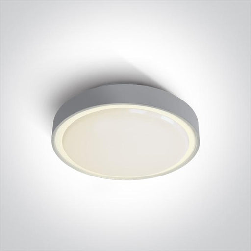 ONE Light Grey Led Ceiling Mounted 15w Warm White Ip65 Emergency 3hrs 230v 5291889051725 67280ANE/G/W
