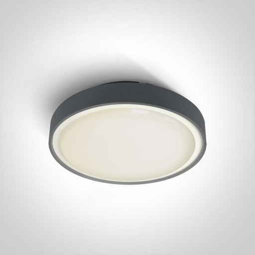 ONE Light Anthracite Led Ceiling Mounted 30w Warm White Ip65 230v 5291889043379 67280BN/AN/W