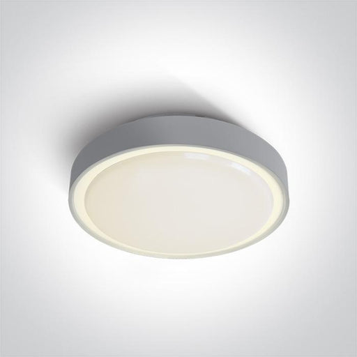 ONE Light Grey Led Ceiling Mounted 30w Warm White Ip65 230v 5291889043362 67280BN/G/W
