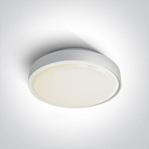 ONE Light White Led Ceiling Mounted 30w Warm White Ip65 230v 5291889043348 67280BN/W/W