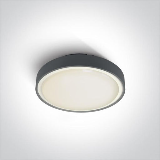 ONE Light Anthracite Led Ceiling Mounted 16w Warm White Ip65 230v 5291889043287 67280N/AN/W