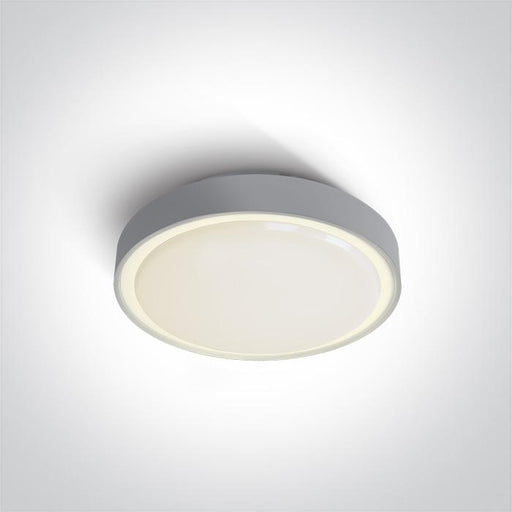 ONE Light Grey Led Ceiling Mounted 16w Warm White Ip65 230v 5291889043270 67280N/G/W