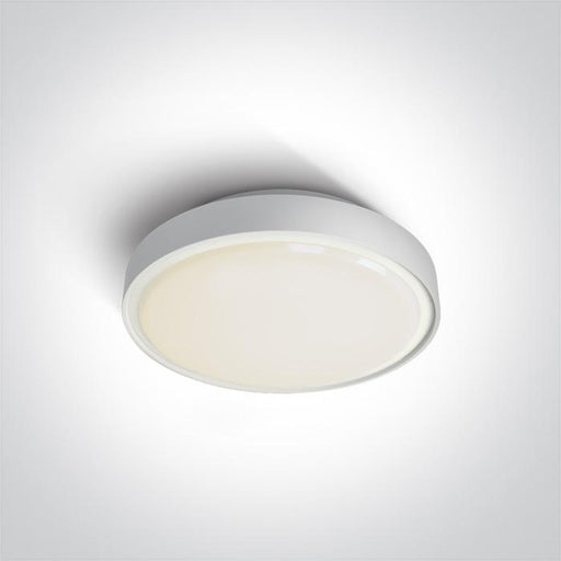 ONE Light White Led Ceiling Mounted 16w Warm White Ip65 230v 5291889043263 67280N/W/W