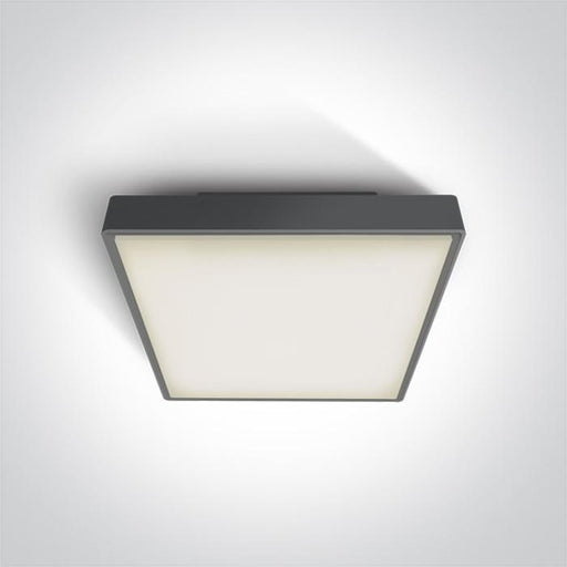 ONE Light Anthracite Led Ceiling Mounted 24w Warm White Ip65 230v 5291889043430 67282AN/AN/W
