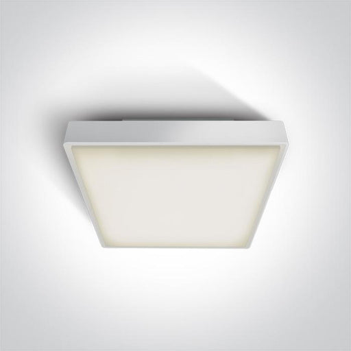 ONE Light White Led Ceiling Mounted 24w Warm White Ip65 230v 5291889043416 67282AN/W/W