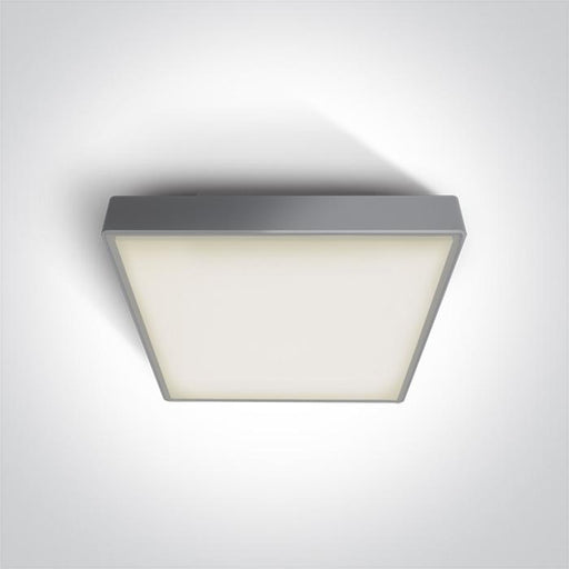 ONE Light Grey Led Ceiling Mounted 15w Warm White Ip65 Emergency 3hrs 230v 5291889051732 67282ANE/G/W