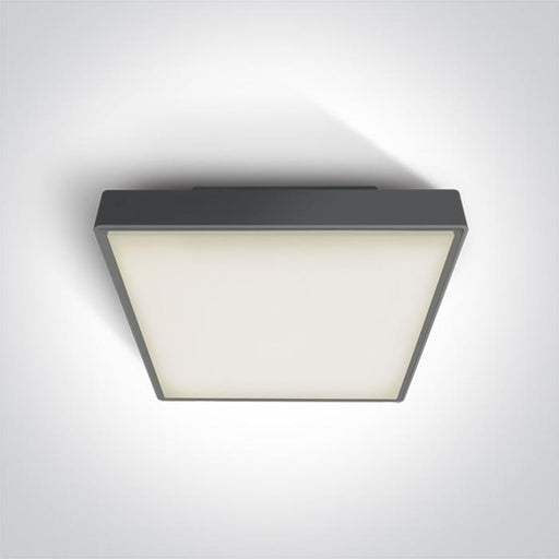ONE Light Anthracite Led Ceiling Mounted 30w Warm White Ip65 230v 5291889043461 67282BN/AN/W