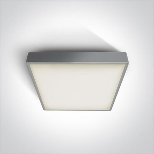 ONE Light Grey Led Ceiling Mounted 30w Warm White Ip65 230v 5291889043454 67282BN/G/W