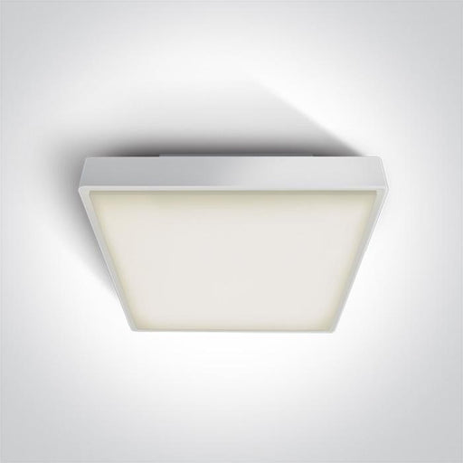 ONE Light White Led Ceiling Mounted 30w Warm White Ip65 230v 5291889043447 67282BN/W/W
