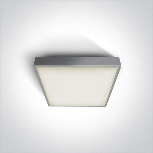 ONE Light Grey Led Ceiling Mounted 16w Warm White Ip65 230v 5291889043393 67282N/G/W