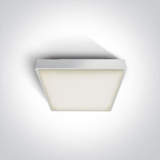 ONE Light White Led Ceiling Mounted 16w Warm White Ip65 230v 5291889043386 67282N/W/W