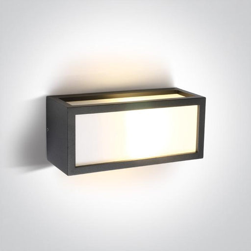 ONE Light Anthracite E27 20w Wall Light Ip54 5291889032403 67328/AN