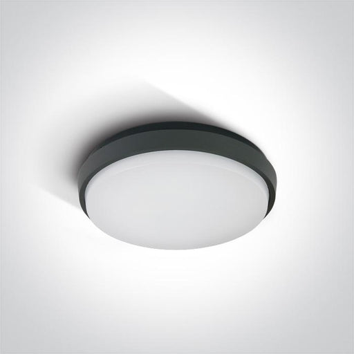 ONE Light Anthracite Ceiling Mounted Led 20w Warm White Ip54 230v 5291889039310 67362/AN/W