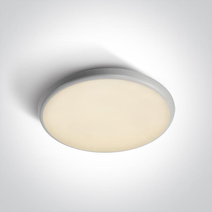 ONE Light White Led Ceiling Mounted 25w Warm White Ip54 100-240v 5291889043096 67370/W/W