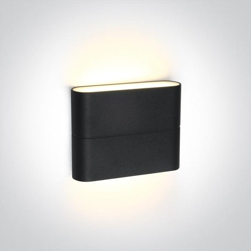 ONE Light Anthracite Led Wall Light 2x3w Warm White Ip54 230v 5291889043638 67376/AN/W