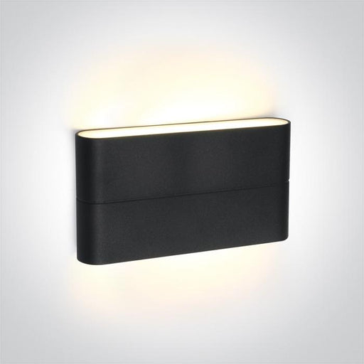 ONE Light Anthracite Led Wall Light 2x6w Warm White Ip54 230v 5291889043652 67376A/AN/W