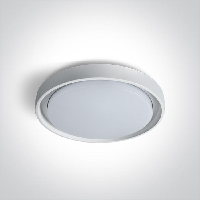 ONE Light White Ceiling Mounted Led 30w Warm White Ip54 100-240v 5291889046592 67384/W/W
