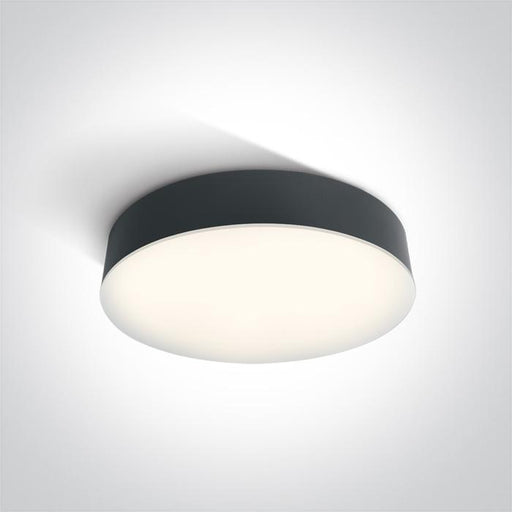 ONE Light Anthracite Led Ceiling Mounted 21w Cool White Ip65 230v 5291889049012 67390/AN/C