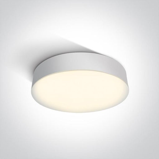 ONE Light White Led Ceiling Mounted 21w Warm White Ip65 230v 5291889049029 67390/W/W