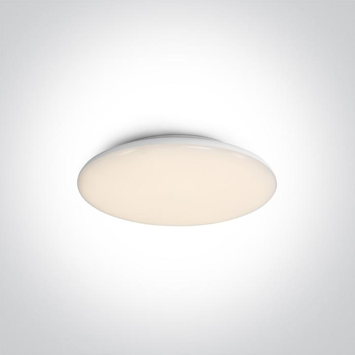 ONE Light White Ceiling Mounted Led 12w Warm White Ip40 100-240v 5291889056959 67404M/W/W