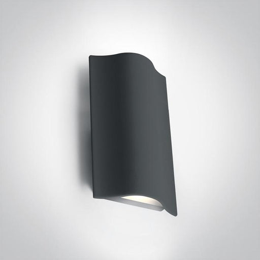 ONE Light Anthracite Wall Led 2x6w Warm White Ip54 230v 5291889053026 67422A/AN/W