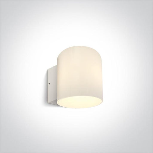 ONE Light White Wall Light 10w Led Ip65 230v Dimmable 5291889059745 67468/W/W