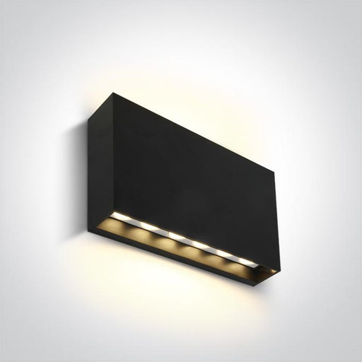 ONE Light Anthracite Led Wall Light 2x6w Warm White Ip65 230v 5291889063261 67472/AN/W