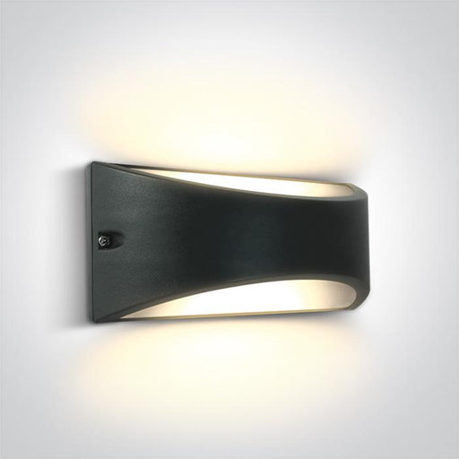 ONE Light Anthracite Led Wall Light 10w Warm White Ip54 230v 5291889063285 67474/AN/W