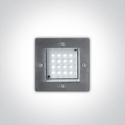 S/STEEL WALL RECESSED RED 1,6w IP54 230v